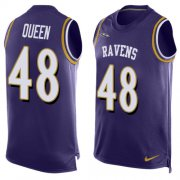 Wholesale Cheap Nike Ravens #48 Patrick Queen Purple Team Color Men's Stitched NFL Limited Tank Top Jersey
