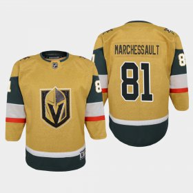 Cheap Vegas Golden Knights #81 Jonathan Marchessault Youth 2020-21 Player Alternate Stitched NHL Jersey Gold