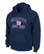 Wholesale Cheap New York Giants Heart & Soul Pullover Hoodie Dark Blue