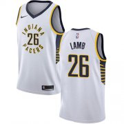 Wholesale Cheap Nike Pacers #26 Jeremy Lamb White NBA Swingman Association Edition Jersey