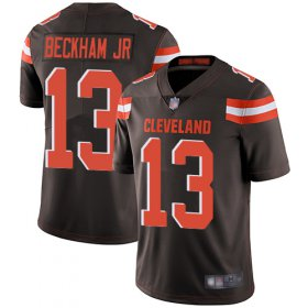 Wholesale Cheap Nike Browns #13 Odell Beckham Jr Brown Team Color Men\'s Stitched NFL Vapor Untouchable Limited Jersey