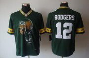Wholesale Cheap Nike Packers #12 Aaron Rodgers Green Team Color Men's Stitched NFL Helmet Tri-Blend Limited Jersey