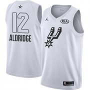 Wholesale Cheap Nike Spurs #12 LaMarcus Aldridge White NBA Jordan Swingman 2018 All-Star Game Jersey