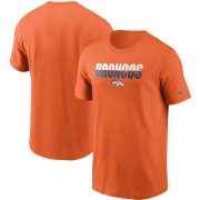 Wholesale Cheap Denver Broncos Nike Split T-Shirt Orange