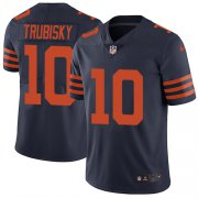 Wholesale Cheap Nike Bears #10 Mitchell Trubisky Navy Blue Alternate Men's Stitched NFL Vapor Untouchable Limited Jersey