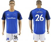 Wholesale Cheap Everton #26 Davies Home Soccer Club Jersey