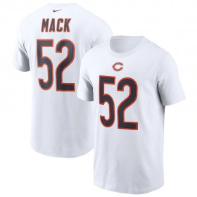 Wholesale Cheap Chicago Bears #52 Khalil Mack Nike Team Player Name & Number T-Shirt White
