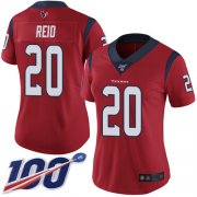Wholesale Cheap Nike Texans #20 Justin Reid Red Alternate Women's Stitched NFL 100th Season Vapor Limited Jersey