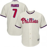 Wholesale Cheap Phillies #7 Maikel Franco Cream Cool Base Stitched Youth MLB Jersey