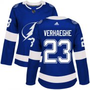 Cheap Adidas Lightning #23 Carter Verhaeghe Blue Home Authentic Women's Stitched NHL Jersey