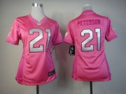 Wholesale Cheap Nike Cardinals #21 Patrick Peterson Pink Women's Be Luv'd Stitched NFL Elite Jersey