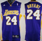 Wholesale Cheap Los Angeles Lakers #24 Kobe Bryant Purple Swingman Jersey