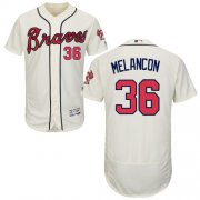 Wholesale Cheap Braves #36 Mark Melancon Cream Flexbase Authentic Collection Stitched MLB Jersey