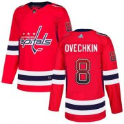 Wholesale Cheap Adidas Capitals #8 Alex Ovechkin Red Home Authentic Drift Fashion Stitched NHL Jersey