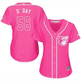 Wholesale Cheap Orioles #56 Darren O\'Day Pink Fashion Women\'s Stitched MLB Jersey