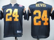 Wholesale Cheap Jets #24 Darrelle Revis Dark Blue With AFL 50TH Patch Stitched NFL Jersey