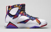 Wholesale Cheap Air Jordan 7 Retro Nothing But Net White/university red-bright concord
