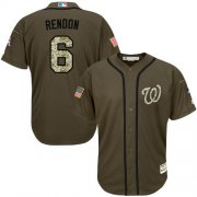 Wholesale Nationals #6 Anthony Rendon Green Salute to Service Stitched Youth Baseball Jersey