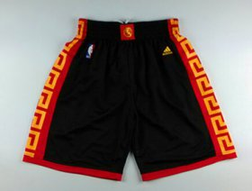 Wholesale Cheap Golden State Warriors 2015 Chinese Black Fashion Short