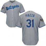Wholesale Cheap Dodgers #31 Mike Piazza Grey Cool Base 2018 World Series Stitched Youth MLB Jersey