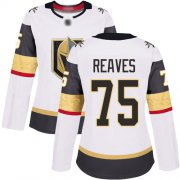 Wholesale Cheap Adidas Golden Knights #75 Ryan Reaves White Road Authentic Women's Stitched NHL Jersey