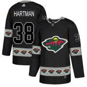 Wholesale Cheap Adidas Wild #38 Ryan Hartman Black Authentic Team Logo Fashion Stitched NHL Jersey