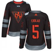 Wholesale Cheap Team North America #5 Aaron Ekblad Black 2016 World Cup Women's Stitched NHL Jersey