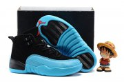 Wholesale Cheap Kids' Air Jordan 12 Shoes Gamma blue/black