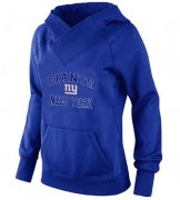 Wholesale Cheap Women's New York Giants Heart & Soul Pullover Hoodie Blue
