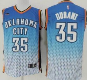 Wholesale Cheap Oklahoma City Thunder #35 Kevin Durant Blue/White Resonate Fashion Jersey