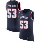 Wholesale Cheap Nike Patriots #53 Kyle Van Noy Navy Blue Team Color Men's Stitched NFL Limited Rush Tank Top Jersey