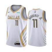 Wholesale Cheap Nike Mavericks #11 Tim Hardaway Jr. White NBA Swingman 2020-21 City Edition Jersey