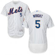 Wholesale Cheap Mets #5 David Wright White(Blue Strip) Flexbase Authentic Collection Stitched MLB Jersey
