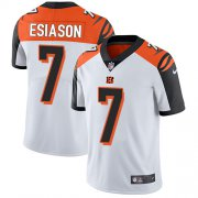 Wholesale Cheap Nike Bengals #7 Boomer Esiason White Men's Stitched NFL Vapor Untouchable Limited Jersey