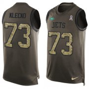 Wholesale Cheap Nike Jets #73 Joe Klecko Green Men's Stitched NFL Limited Salute To Service Tank Top Jersey