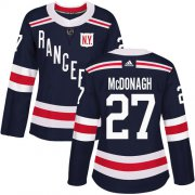 Wholesale Cheap Adidas Rangers #27 Ryan McDonagh Navy Blue Authentic 2018 Winter Classic Women's Stitched NHL Jersey
