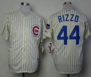 Wholesale Cheap Cubs #44 Anthony Rizzo Cream 1969 Turn Back The Clock Stitched MLB Jersey