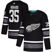 Wholesale Cheap Adidas Red Wings #35 Jimmy Howard Black Authentic 2019 All-Star Stitched NHL Jersey