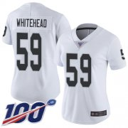 Wholesale Cheap Nike Raiders #59 Tahir Whitehead White Women's Stitched NFL 100th Season Vapor Limited Jersey