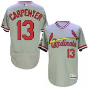 Wholesale Cheap Cardinals #13 Matt Carpenter Grey Flexbase Authentic Collection Cooperstown Stitched MLB Jersey