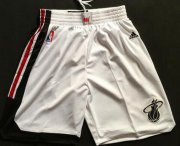 Wholesale Cheap Men's Miami Heat 2015-16 Retro White Short