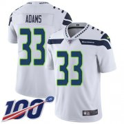 Wholesale Cheap Nike Seahawks #33 Jamal Adams White Men's Stitched NFL 100th Season Vapor Untouchable Limited Jersey