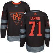 Wholesale Cheap Team North America #71 Dylan Larkin Black 2016 World Cup Stitched Youth NHL Jersey