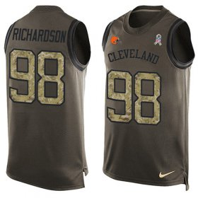 Wholesale Cheap Nike Browns #98 Sheldon Richardson Green Men\'s Stitched NFL Limited Salute To Service Tank Top Jersey