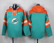 Wholesale Cheap Nike Dolphins Blank Aqua Green Player Pullover NFL Hoodie