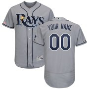 Wholesale Cheap Tampa Bay Rays Majestic Road Authentic Collection Flex Base Custom Jersey Gray