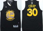 Wholesale Cheap Golden State Warriors #30 Stephen Curry Revolution 30 Swingman All Black Jersey