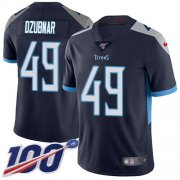 Wholesale Cheap Nike Titans #49 Nick Dzubnar Navy Blue Team Color Youth Stitched NFL 100th Season Vapor Untouchable Limited Jersey