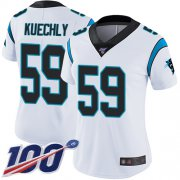 Wholesale Cheap Nike Panthers #59 Luke Kuechly White Women's Stitched NFL 100th Season Vapor Limited Jersey