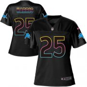 Wholesale Cheap Nike Lions #25 Will Harris Black Women's NFL Fashion Game Jersey